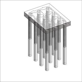 LOD 4 Model representation of In situ concrete augered piling system.