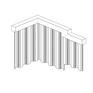 LOD 3 Model representation of Carbon steel sheet piles.