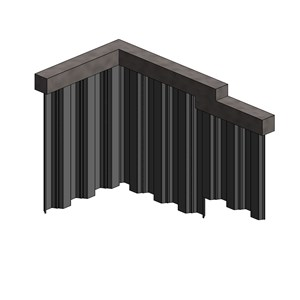 LOD 5 Model representation of Carbon steel sheet piles.