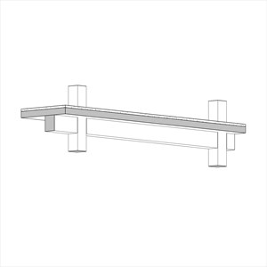 LOD 3 Model representation of Concrete beams.