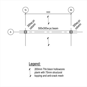 LOD 4 Plan representation of Concrete beams.