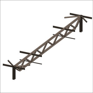 LOD 5 Model representation of Softwood trussed rafters.