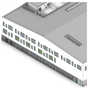 LOD 2 Model representation of Concrete structural insulated panels (SIPs).