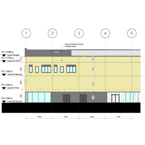 LOD 4 Elevation representation of Concrete structural insulated panels (SIPs).