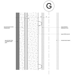 LOD 5 2D Detail representation of Concrete structural insulated panels (SIPs).