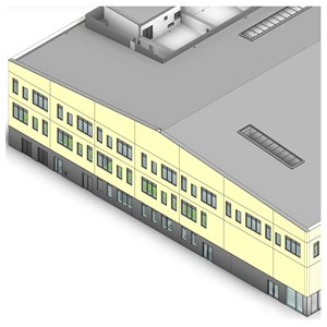 LOD 5 Model representation of Concrete structural insulated panels (SIPs).