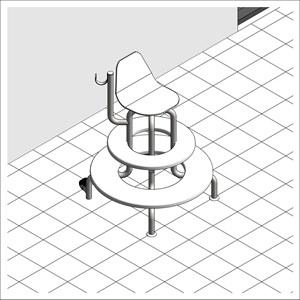 LOD 3 Model representation of Fixed observation poolside chairs.