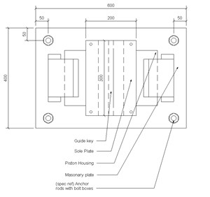 LOD 4 Plan representation of Guide bearings.