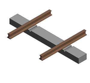 LOD 3 Model representation of Concrete monoblock sleepers.