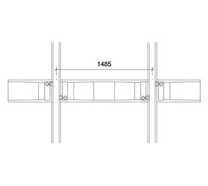 LOD 5 Plan representation of Concrete monoblock sleepers.