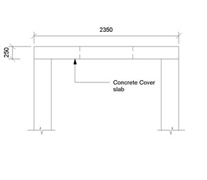 LOD 3 2D Section representation of Concrete shaft cover slab.